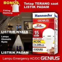 Lampu LED Emergency Hannochs Genius 15 Watt AC/DC 15w