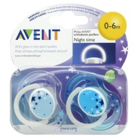 Empeng Bayi Avent Night Time Orthodontic Pacifier 0-6M Murah