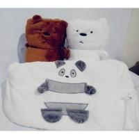 Selimut halus ukuran besar panda ice bear grizzly