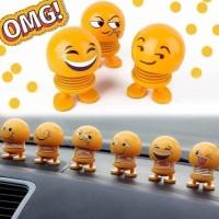 Lucu Pajangan Emoticon Smile Dashboard Mobil Ruang Tamu / Kamar Kepala