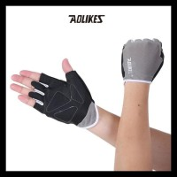 Aolikes A104 Half Finger Weightlifting Gym Fitness Glove Gray - S