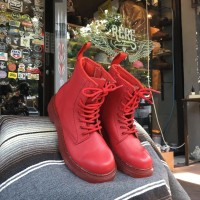 DR. MARTENS 1460 TODDLER BOOTS FULL RED FOR KIDS ( SIZE : 32 )