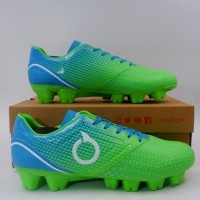 Sepatu Bola OrtusEight Genesis Fluo Green Cyan White 11010048