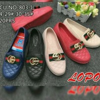 Sepatu Anak Jelly Shoes Premium Letter G - Sepatu slip on flatshoes