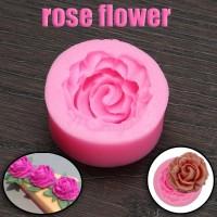 Cetakan silikon untuk hiasan kue, coklat, clay, resin Bunga Mawar 3D
