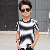 KAOS ANAK Hitam Putih Salur 1 - 7 Tahun Baju Atasan Anak Salur Garis