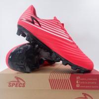 Sepatu Bola Specs Barricada Genoa 19 FG Emperor Red White 100992 Ori