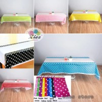 Taplak meja polkadot / table cover motif polkadot