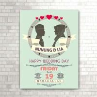 jam dinding happy wedding (w-801)