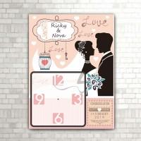 jam MEJA/dinding happy wedding (w-405)