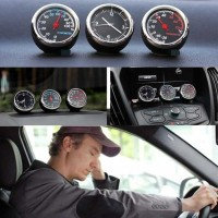 Paket Dekorasi interior Mobil Jam Clock Thermometer Hygrometer Car 3PC