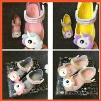 SF 15.7-18.5cm Sepatu Flat Shoes Anak Perempuan Unicorn Jelly Shoes