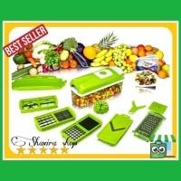Alat pemotong Buah Dan sayuran/ Genius Nicer Dicer Plus 1 Set promo