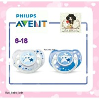 Empeng AVENT Night Time Soother 6-18m Isi 2 pacifier soother