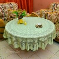 Taplak meja makan anti air bulat diameter 150 cm