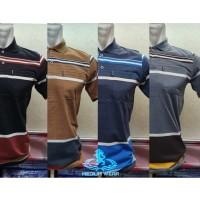 Polo Salur M / Kaos Krah Salur Dewasa / Kaos Krah Anak - Anak Tanggung, Hitam