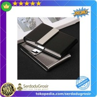 Terlaris FOCUS Kotak Bungkus Rokok Elegan Leather Cigarette Case -