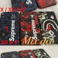 SUPREME BAPE CASE IPHONE x / xs / xs max / xr casing iphone XR