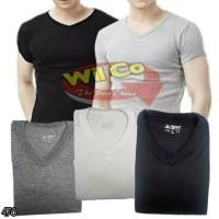 K478 Kaos Oblong V-NECK Kaos Dalam Pria T Shirt Premium Comfort Extra