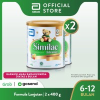 Similac Advance 2 400 g (6-12 bln) Susu Formula Bayi Lanjutan - 2 klg