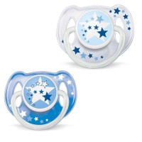 Philips Avent Ortho Soother 6-18M Night Time Empeng Pa Terbaru