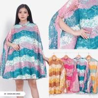 Dress Pesta/Dress Party/Dress Mini /Dress Brukat Cape Mini Dress