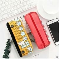 kotak pensil bentuk BUS SEKOLAH / pencil bag