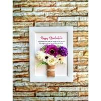 Kado Wisuda Flower in Frame Custom Kado Pernikahan Kado Ulang Tahun