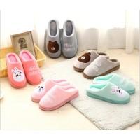 [LOGU] Sandal bulu Line dewasa, sandal rumah bulu brown cony, sandal
