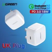 Ugreen Quick Charge 4.0 3.0 QC UK Plug PD Charger 18W QC4.0 QC3.0 USB