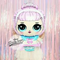 balon foil LOL surprise / balon karakter LOL princes bando mahkota