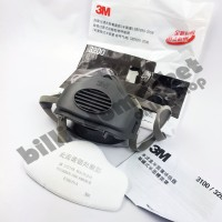 Masker 3M 3200 Set Half Face Mask Respirator Single Cartridge