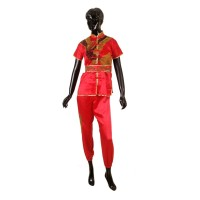 PROTEAM WUSHU UNIFORM EAGLE BROWN-RED