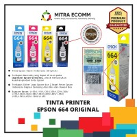 Tinta EPSON L100 Colours (Black-Cyan-Magenta-Yellow) 664 Original