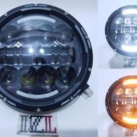 LAMPU LED DAYMAKER 16 MATA 2 WARNA SENJA PUTIH KUNING HIGH LOW 7 INCH