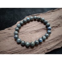 Gelang Batu Black Moonstone Labradorite Langka 4A Magic Stone 8mm