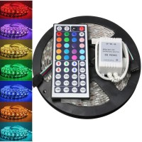 5M 5050 RGB SMD LED Strip Fleksibel 300 LED Tahan Air Remote IR 44 Tom