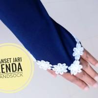 handsock manset renda ring jari cincin bahan jersey renda bunga murah