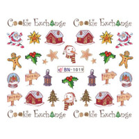 Christmas Water Decal Nail Sticker Stiker Kuku B1019