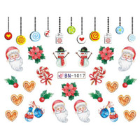 Christmas Water Decal Nail Sticker Stiker Kuku B1017