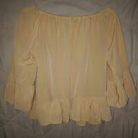 baju sabrina cewek kuning all size bisa dipakai sampai ukuran XXL