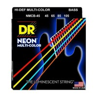 Senar Bass DR Strings, K3 Neon Hi-Def Multi-Color Bass, NMCB-45