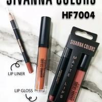 SIVANNA COLORS Matte lips 2 in 1 lip liner dan lip gloss HF7004 Ori