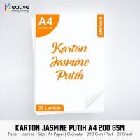 Kertas JASMINE Putih (A4 / 200 gsm / 1 pack = 25 lbr)