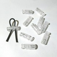 stopper lock stopper botol stopper dua lubang tali serut transparan