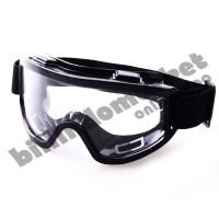 Kacamata Safety Goggle Kacamata Airsoft Gun Black Frame