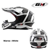 HELM FULL FACE GM MOTORCROSS TRACKER WHITE BLACK
