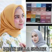 jilbab kerudung potton polly cotton bella square ORI hijab segiempat