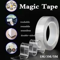 Double Tape Nano Gel Bening Tahan Air 3M x 30mm Super Kuat Bisa Cuci