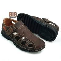 Sepatu Sandal Pria Kulit Asli Model Santai Model Kekinian B305